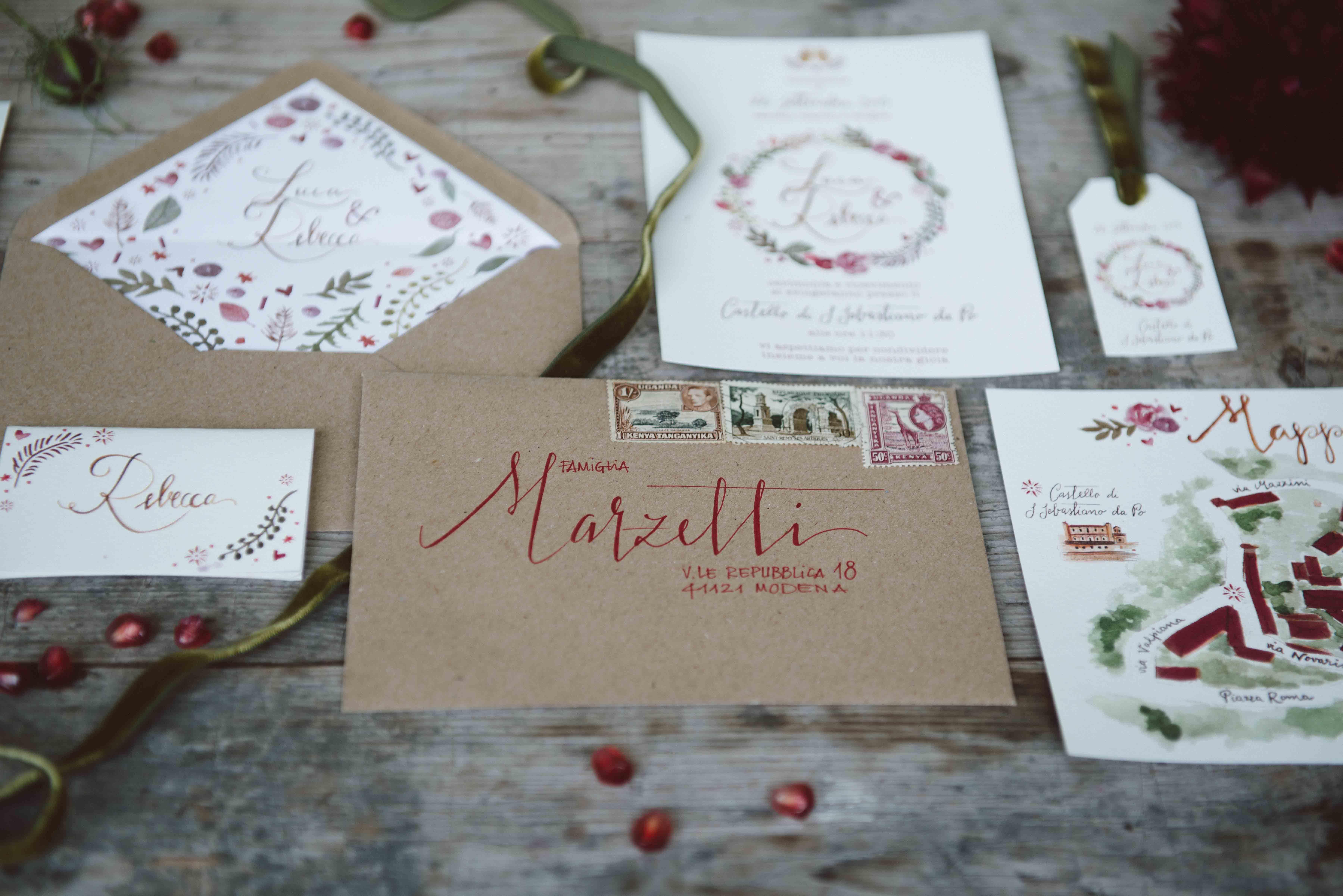 Busta Matrimonio Toscana : Lettering calligrafia busta indirizzo matrimonio studio