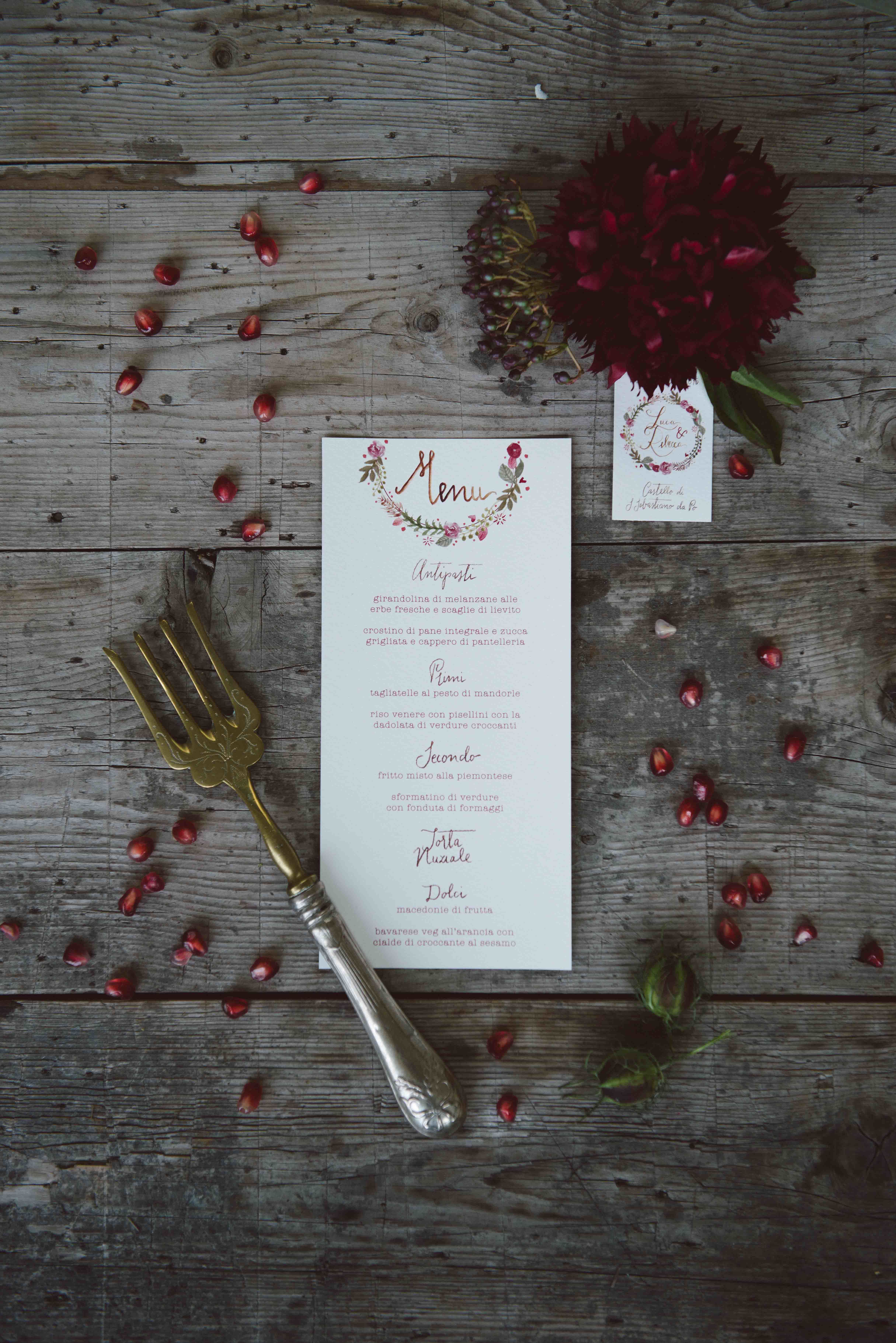 Matrimonio In Bordeaux : Menu melograno matrimonio peonia bordeaux studio alispi