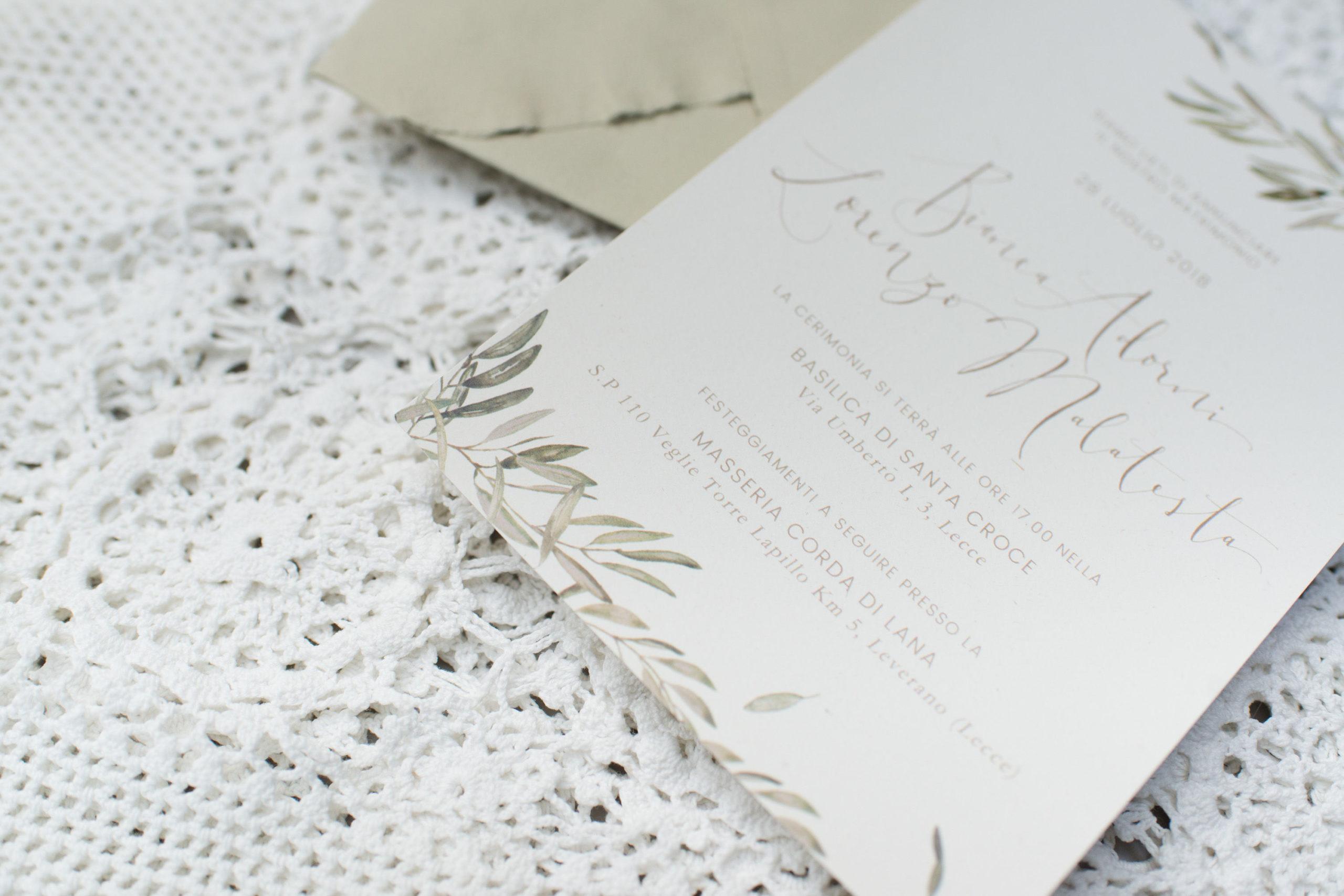 Partecipazioni Matrimonio On Line Low Cost.Inviti Matrimonio Ulivo Partecipazioni Inviti Studio Alispi