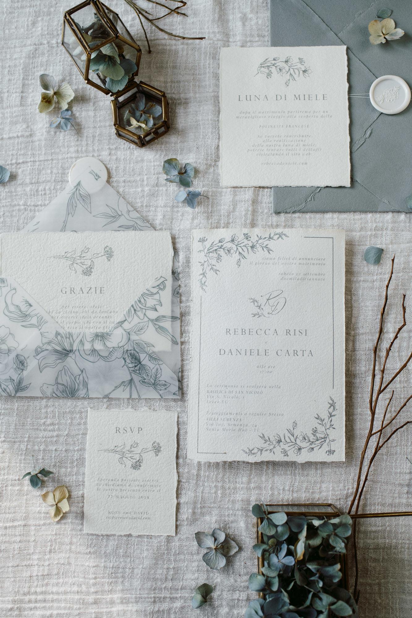 Partecipazioni Matrimonio On Line Low Cost.Partecipazioni Inviti Matrimonio Fiorito Elegante 3 Studio Alispi