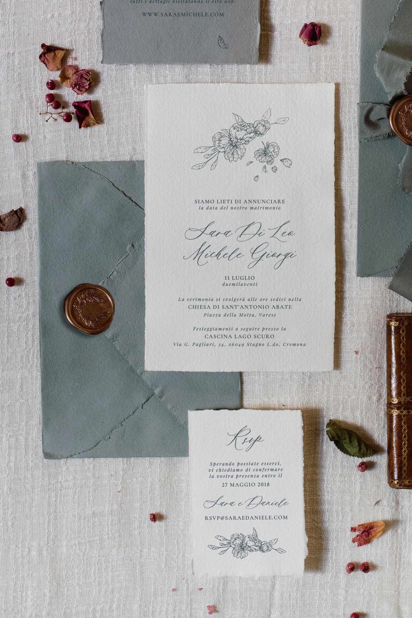 Partecipazioni Matrimonio Artigianali.Partecipazioni Matrimonio Seta Buste Artigianali Fioreale Studio